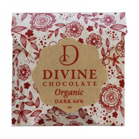 Divine Organic Chocolate Dark 66% NZ New Zealand 800w