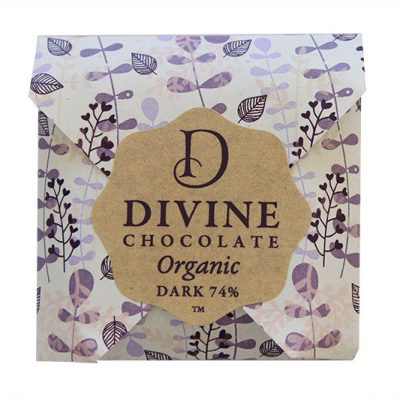 Divine Organic Chocolate Dark 74% NZ New Zealand 800w
